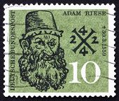 Postage stamp Germany 1959 Adam Riese, Arithmetic Teacher
