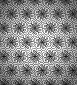 Seamless wallpaper pattern black.