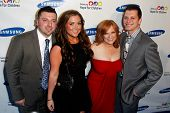 NEW YORK-MAY 29: (L-R) Christopher Manzo, Lauren Manzo, Caroline Manzo and Albert Manzo attend the S