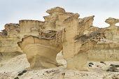 Постер, плакат: Скалы скульптурные ветра около Масаррон Испания