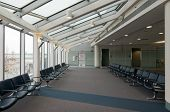 Empty Airport Waiting Area