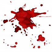 stock photo of bloody  - Bloody red blots  - JPG