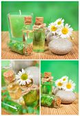 Spa Collage With Camomile