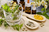 stock photo of pestle  - Alternative Medicine - JPG