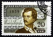 Postage Stamp Russia 1959 Sandor Petofi, Hungarian Poet