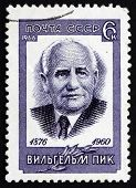 Postage Stamp Russia 1966 Wilhelm Pieck, German Politician