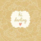 Floral romantische kaart. Achtergrond gemaakt van peony bloemen met tekst in vector. Bruiloft uitnodigingskaart