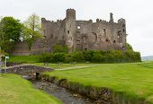 Laugharne Castle Carmarthenshire Wales Welsh