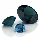pic of alexandrite  - alexandrite on white background  - JPG