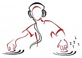DJ behind console