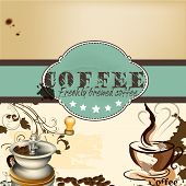 Design Of Coffee Shop Or Cafe  Poster