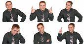 Expressões de um homem de negócios