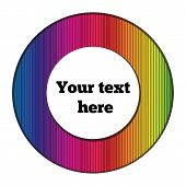 round frame for text with a spectral pattern