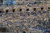 Ollantaytambo - Old Inca Fortress And Town The Hills Of The Sacred Valley (valle Sagrado) In The And