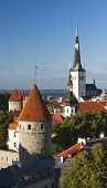 Summer View Of The Old Town Of Tallinn, Estonia