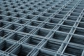 image of reinforcing  - Reinforcing steel mesh close up image of construction material - JPG