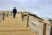 Boardwalk In Praia Barra