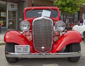 1933 Red Chevy Coupe Front View