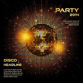 Disco Ball Party Background Ai