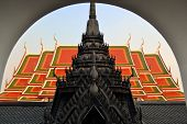 Buddhist temple in typical Thai style