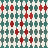 Abstract Retro Geometric Background In Green And Grey With Seamless Texture Pattern