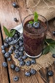 Fresh Made Blueberry Smoothie