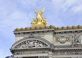 Opera Garnier statue in Paris