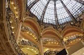 PARIS,FRANCE-AUGUST 18-Galeries LaFayette interior in Paris