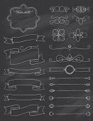 Vintage Calligraphy Chalkboard Design Elements Three