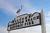 Bradenton Beach Historic Pier Sign