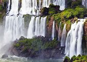 Iguassu Falls, the largest series of waterfalls of the world, located at the Brazilian and Argentini