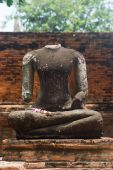 Beheaded Buddha Image In Ayuttaya, Thailand