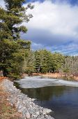 Ice On The Bantam River