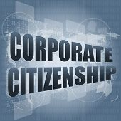 Corporate Citizenship Words