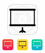 Projector screen icon.
