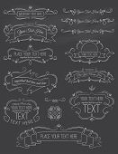 Vintage Calligraphy ChalkBoard Elements