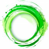 Abstract Vector Bright Painting Design Element. Green.