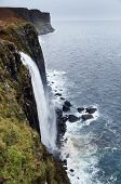 Kilt Rock waterfall, Isle of Skye, Scotland, UK