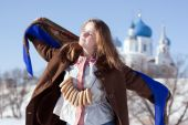 Girl In Russian Traditional Kerchief