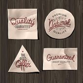 Premium quality craft paper labels