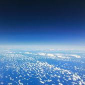 stock photo of float-plane  - Beautiful cloud sky view from aeroplane window - JPG