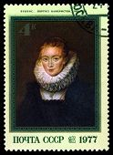 Vintage  Postage Stamp.  Portrait Of The Lady's Maid, By Rubens.