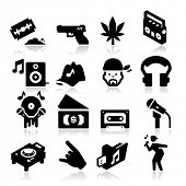 stock photo of cap gun  - Rap Music Icons - JPG