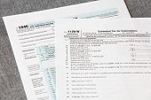 U S  income tax form
