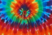 Bright colored tie dye