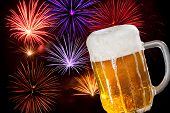 Beer With Fireworks