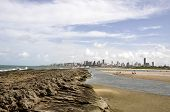 stock photo of natal  - Beach of Natal at low tide Rio Grande do Norte  - JPG