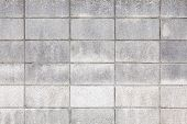 foto of cinder block  - concrete block wall as background and texture - JPG