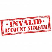 Invalid Account Number-stamp