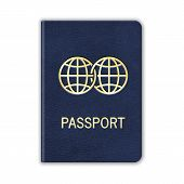stock photo of passport cover  - Realistic Passport - JPG